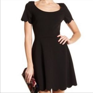 🛍 The Vanity Room Scallop Fit & Flare Dress